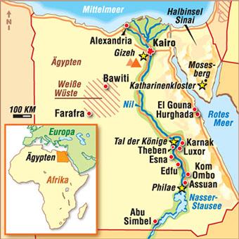 Karte Von ägypten.Karten ägypten