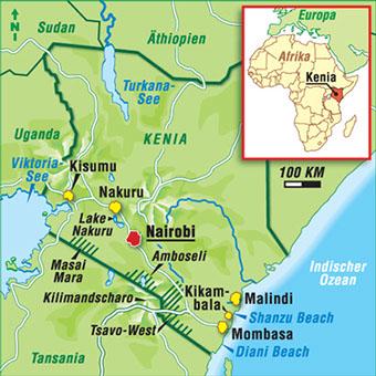 Kenia Karte.Karten Kenia