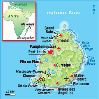mauritius karte karten mauritius