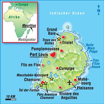 Karten Mauritius