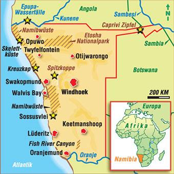 Karten Namibia