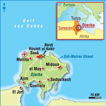 djerba karte karten tunesien