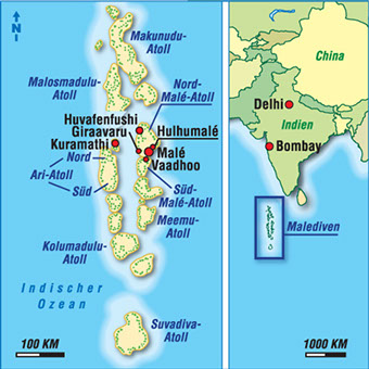 karte malediven karten malediven