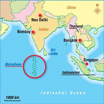 Karten Malediven