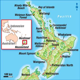 Neuseeland Nordinsel Karte.Karten Neuseeland
