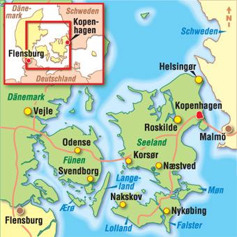 Danemark Karten