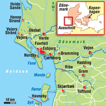 Dänemark Nordsee Karte.Dänemark Karten