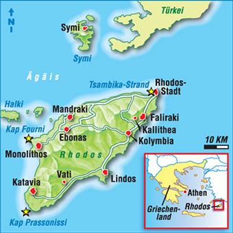 Strand Karte Rhodos.Karten Griechische Inseln