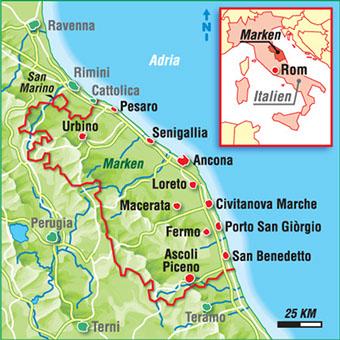 Karten Italienische Regionen