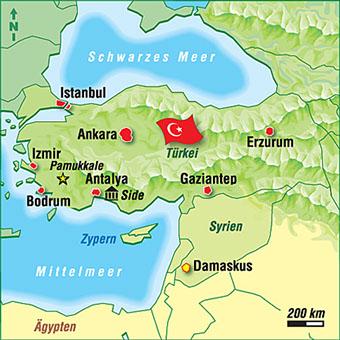 Türkische Riviera Karte.Türkei Karten