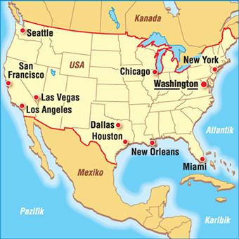 Karten Usa