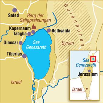 see genezareth karte israel karten