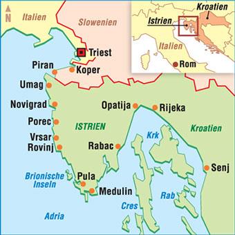 Karte Istrien Kroatien.Karten Kroatien