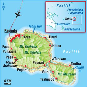 Karten Tahiti
